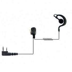 Jetfon Ohrhaken Kopfhörer für Kenwood Funkgeräte