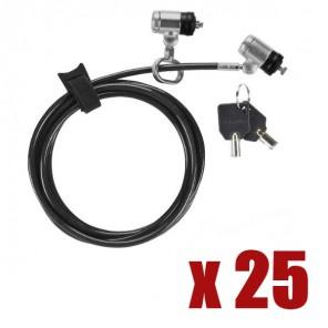 25 Dual P2MKL Targus Defcon Sicherheitsschlösser mit Kabel