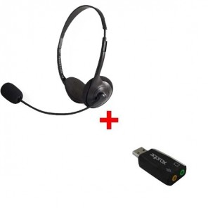 Pack: Duo-Headset  + USB-Adapter