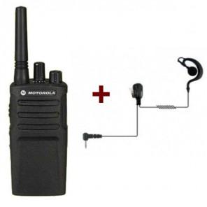 Motorola XT420 + Ohrbügel-Freisprechkit