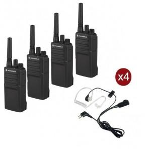 Motorola XT420 4er-Pack mit 4 Bodyguard Headsets