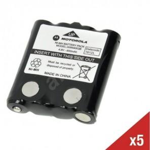 5er Set Motorola NiMH Akku für TLKR 6/7/8/60/80/80EX und XTR