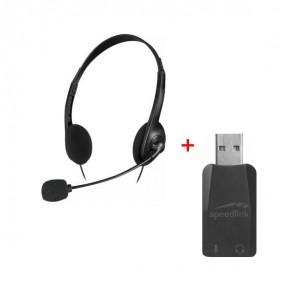 Vorteilspack: Headset + USB-Soundkarte