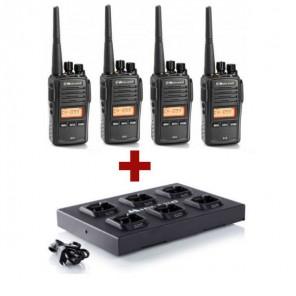 4er Pack Midland G18 + C1251 Mehrfachladegerät