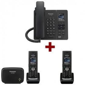 3er-Pack: Panasonic KX-TGP600 + 1 Mobilteil KX-TPA60 + 1 Mobilteil KX-TPA65