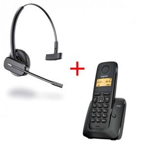 Gigaset A120 + Headset Plantronics C565