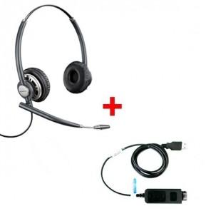 Plantronics EncorePro HW720 + USB-Adapterkabel DSU011M