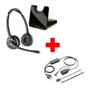 Pack für Alcatel: Plantronics CS520 + EHS-Kabel