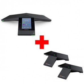 Pack: Polycom Trio 8800 - Skype for Business + 2 Zusatz-Mikrofone