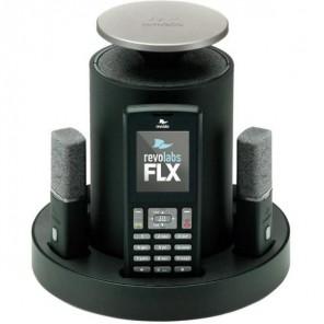 Revolabs FLX 2 POTS mit 2 omnidirektionalen Tisch-Mikrofonen