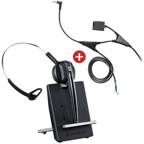 Pack für Alcatel: Sennheiser D10 Phone + EHS-Kabel