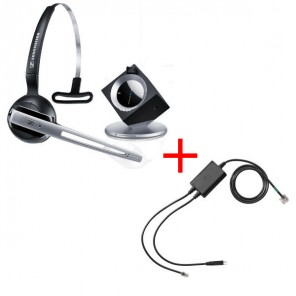 Pack für Polycom: Sennheiser DW Office Phone + EHS-Kabel