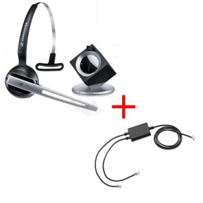 Pack für Snom: Sennheiser DW Office Phone + EHS-Kabel
