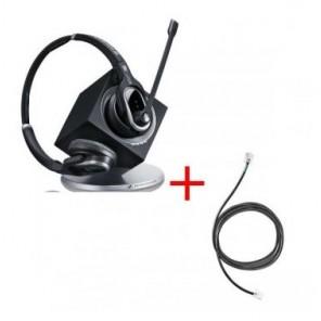 Pack für Alcatel: Sennheiser DW Pro 2 ML + EHS-Kabel