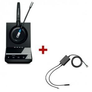 Pack für Polycom: Sennheiser DW Office + EHS-Kabel