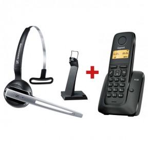 Gigaset 120E + Headset Sennheiser DW Office GAP