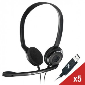 5er Set Sennheiser PC 8 USB