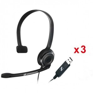 3er Pack: Sennheiser PC 7 USB