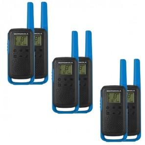 6er Set Motorola TALKABOUT T62 - blau