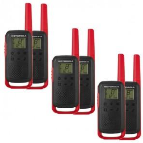 6er Set Motorola TALKABOUT T62 - rot