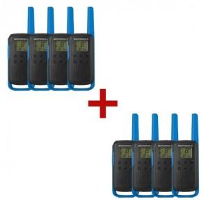 8er Set Motorola TALKABOUT T62 - blau
