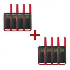 8er Set Motorola TALKABOUT T62 - rot