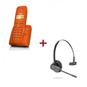 Gigaset A120 - orange + Plantronics C565 GAP