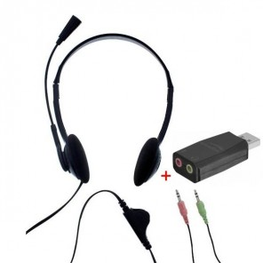 Pack: T'nB First Headset +  USB-Adapter