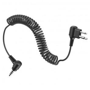 2-poliges Kabel mit Doppelklinkenanschluss von Tufftalk für Motorola