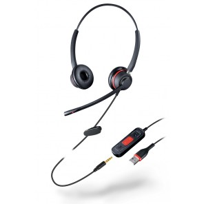 Duo Headset mit USB/Jack Anschluss