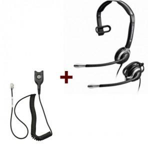 Pack: Sennheiser CC 530 + Sennheiser CSTD 01 QD-Kabel
