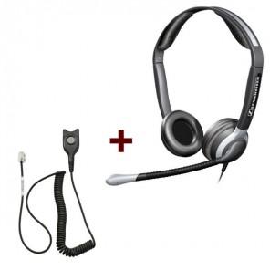 Pack: Sennheiser CC 540 + Sennheiser CSTD 01 QD-Kabel