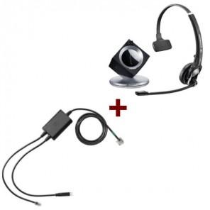 Pack für Polycom: Sennheiser DW Pro 1 Phone + EHS-Kabel
