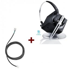 Pack für Siemens: Sennheiser DW Office ML + EHS-Kabel