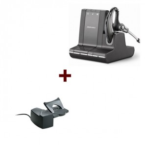 Pack: Plantronics W730 + Hörerlift