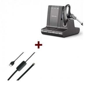 Pack: Plantronics W730 + Siemens EHS-Kabel