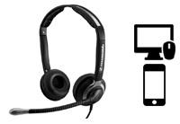 Schnurgebundene Headsets für PC / MAC und Smartphones