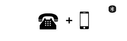 Schnurlose Bluetooth-Headsets für Telefon + Smartphones