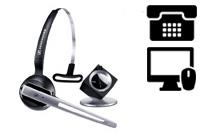 Schnurlose Headsets für Telefon + PC