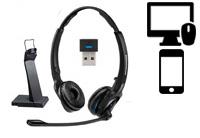 Schnurlose Headsets für PC + Smartphones