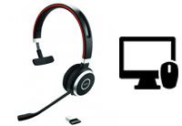 Schnurlose Headsets für PC & Mac