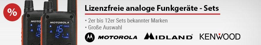 Lizenzfreie Analoge Funkgeräte - Set