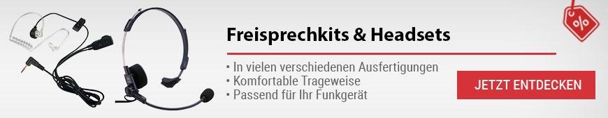 Freisprech-Kits & Headsets für Funkgeräte