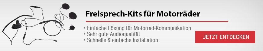Schnurgebundene Freisprech-Kits für Motorräder
