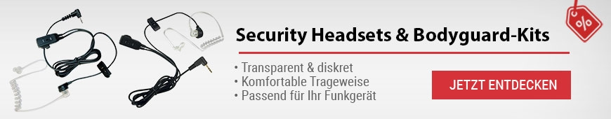 Security Headsets & Bodyguard-Kits