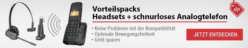 Vorteilspacks: Headset + schnurloses Telefon