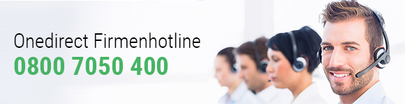 Onedirect Firmenhotline 0800 7050 400